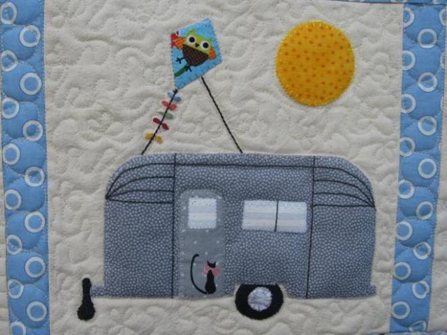 lydia & Eli, caravan cot quilt 022