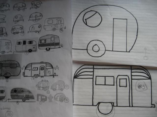 Images drawn into a pattern for applique